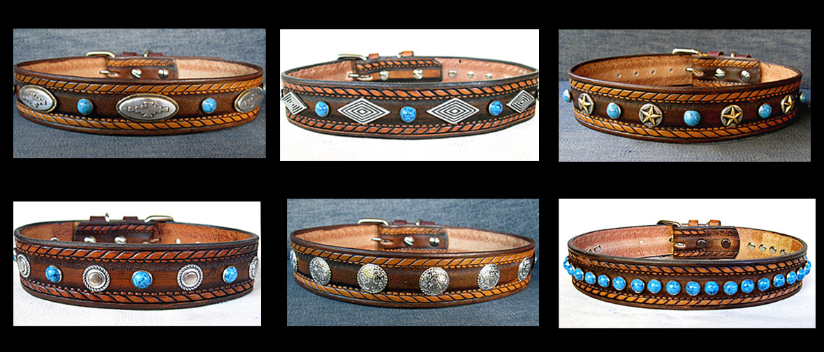 CCC Western Leather Dog Collars - Dakota Collection