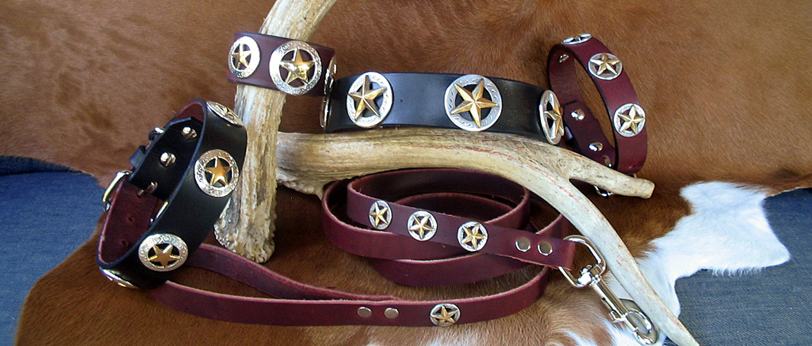 CCC Western Leather Dog Collars - Deputy Dawg Collection