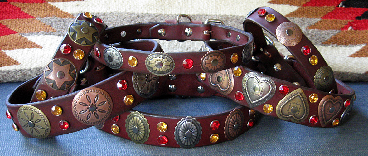 CCC Western Leather Dog Collars - Hidalgo Collection
