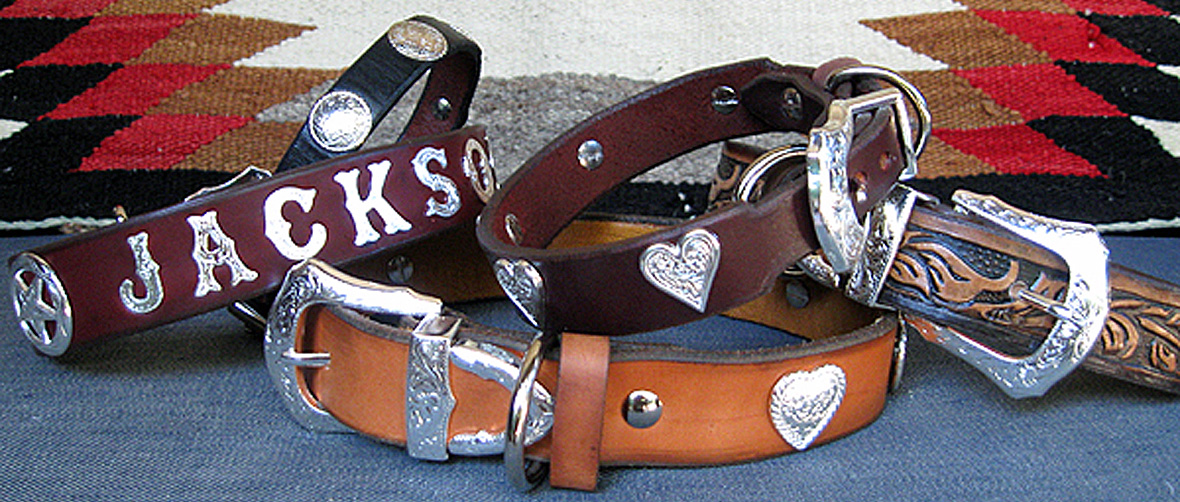 CCC Western Leather Dog Collars - Rodeo Rover collection