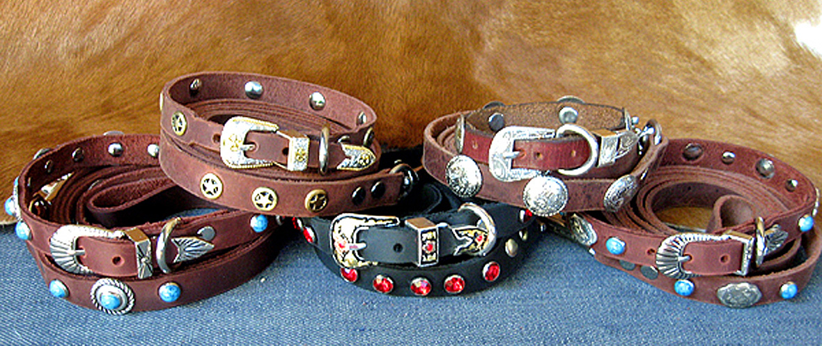CCC Western Leather Dog Collars - Speedy Gonzalez Collection