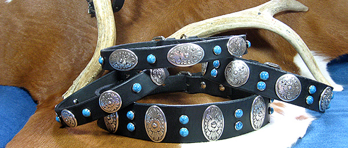 CCC Western Leather Dog Collars - Zorro Collection