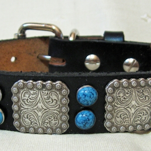 CCC Western Leather Dog Collars - Berry Bow Wow